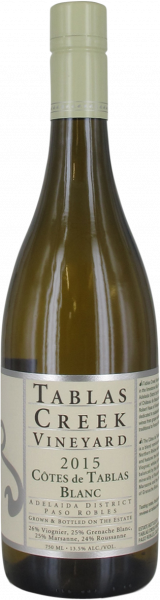 2015 Côtes de Tablas blanc Tablas Creek Vineyard