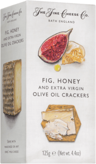 Fig, Honey & Extra Virgin Olive Oil Crackers The Fine Cheese Co.
